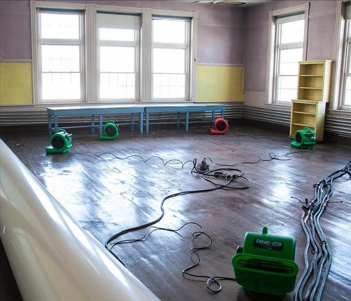 Water Damage at Art Center After