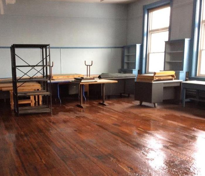 Water Damage at Art Center Before