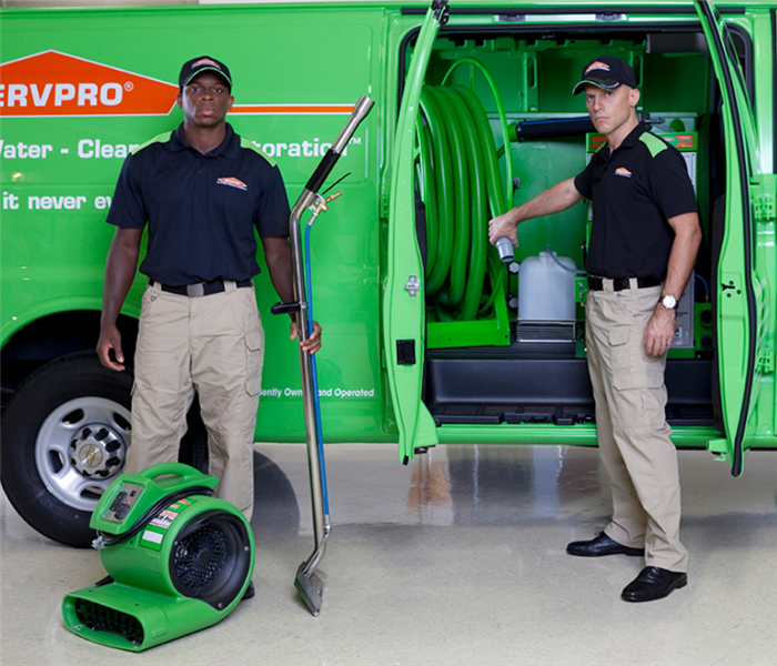 Two SERVPRO men ready to clean